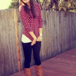 what i wore wed-nes-day: checkers and boots