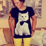 What I Wore Wed-nes-day: Cat on My Shirt