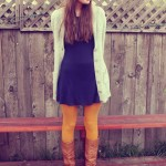 What I Wore Wed-nes-day: Mustard Tights!