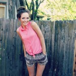 Coral Tie Top and Pattern Shorts