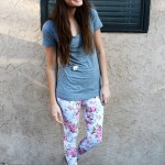Floral Leggings and Leopard Headband