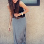 Knotted Maxi Skirt and Hippie Headband