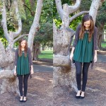 PETER PAN COLLAR AND LEGGINGS