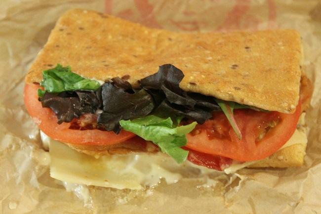 wendys asiago ranch flatbread sandwich