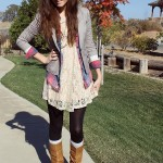 FALL FASHION SERIES DAY SEVEN: LACE DRESS AND LOTS OF LAYERS