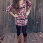 FALL FASHION SERIES DAY EIGHT: AZTEC DRESS AND BOOTS