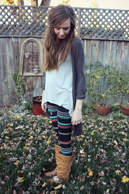 Aztec leggings and boots