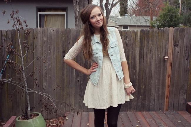 Denim vest look #ThisisStyle #shop