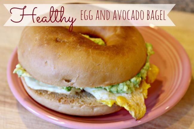 Egg and Avocado Bagel