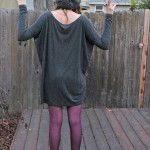 GREY TUNIC AND RADIANT ORCHID TIGHTS