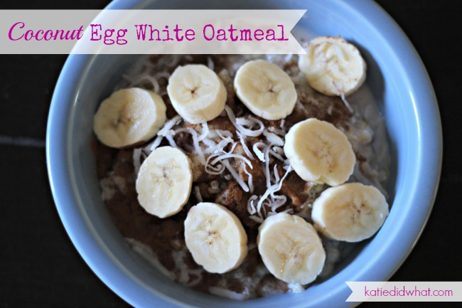 egg white oatmeal