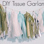 DIY TISSUE GARLAND TUTORIAL