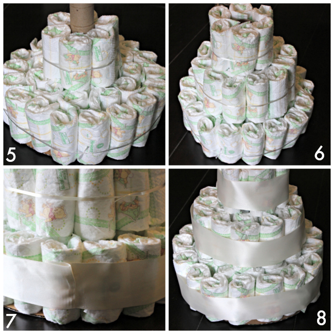 How to make diaper cakes.