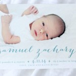 SAM'S BIRTH ANNOUNCEMENTS BY MINTED