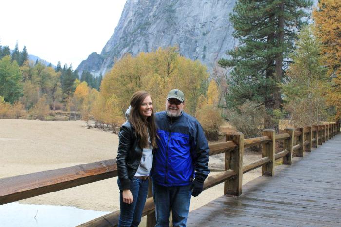 me and dad yosemite