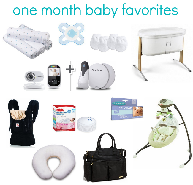 one month baby favorites