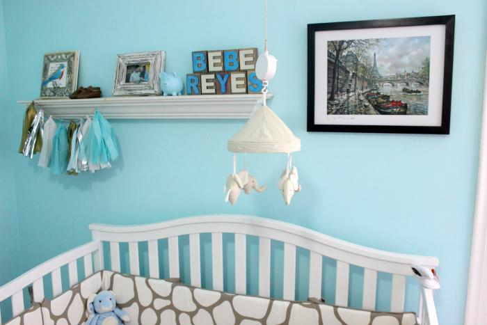 above crib