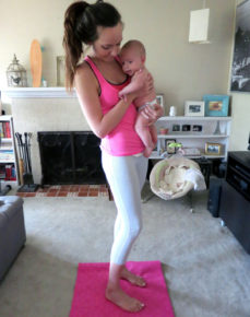 petal pants and yoga mat