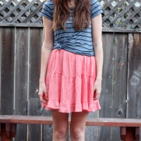 ruffle dress and tee