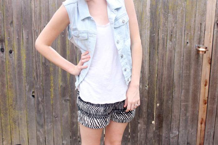 vest and shorts