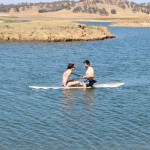 STAND UP PADDLE BOARDING AT THE LAKE