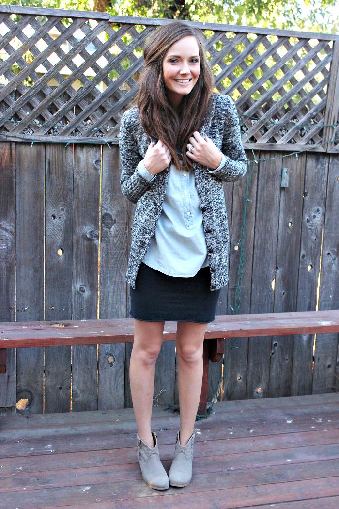 fall fashion mini and boots