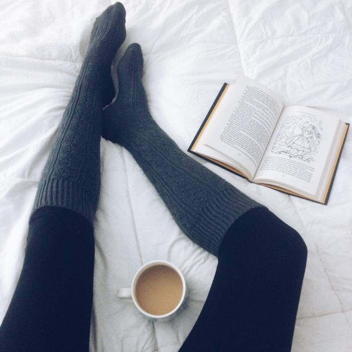 socks on bed