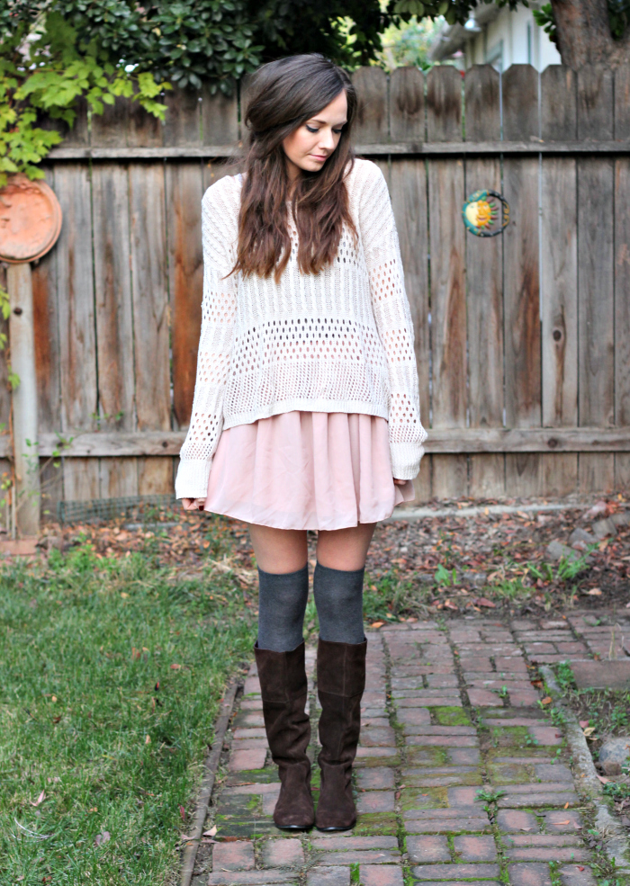 7f6a402fdc0 KNEE HIGH SOCKS AND BLUSH SKIRT - Katie Did What