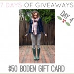 7 DAYS OF GIVEAWAYS — DAY 4 BODEN