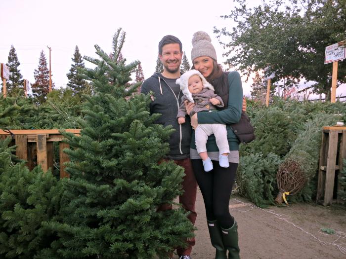 family christmas tree lot