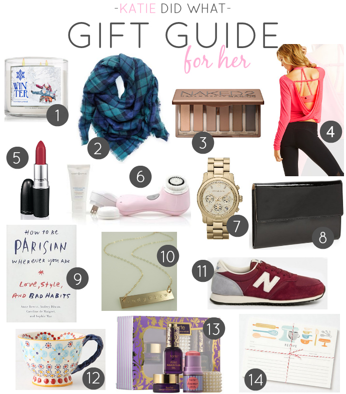 GIFT GUIDE FOR HER - Katie Did What