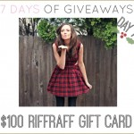 7 DAYS OF GIVEAWAYS — DAY 7 RIFFRAFF
