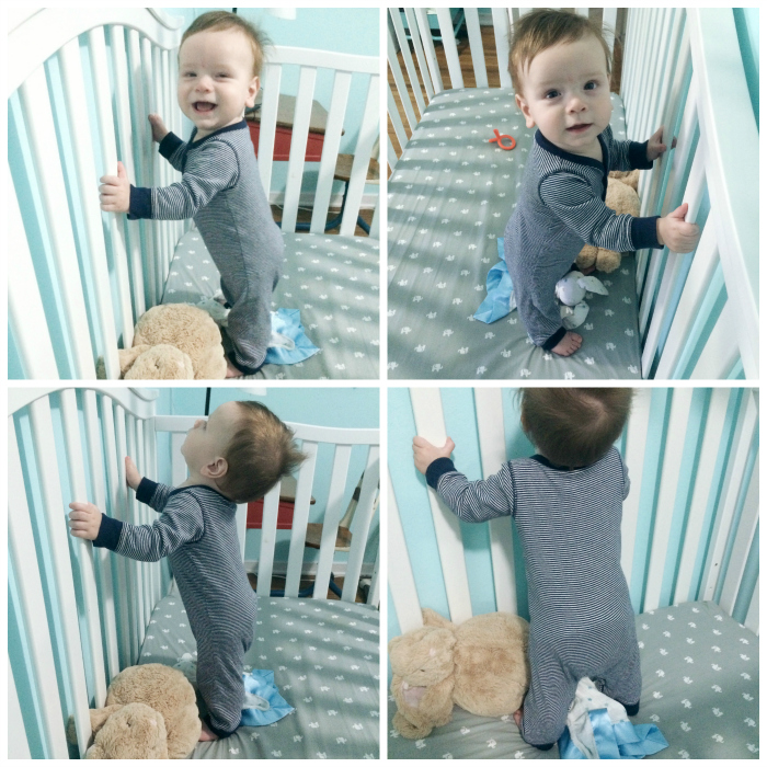standing in crib