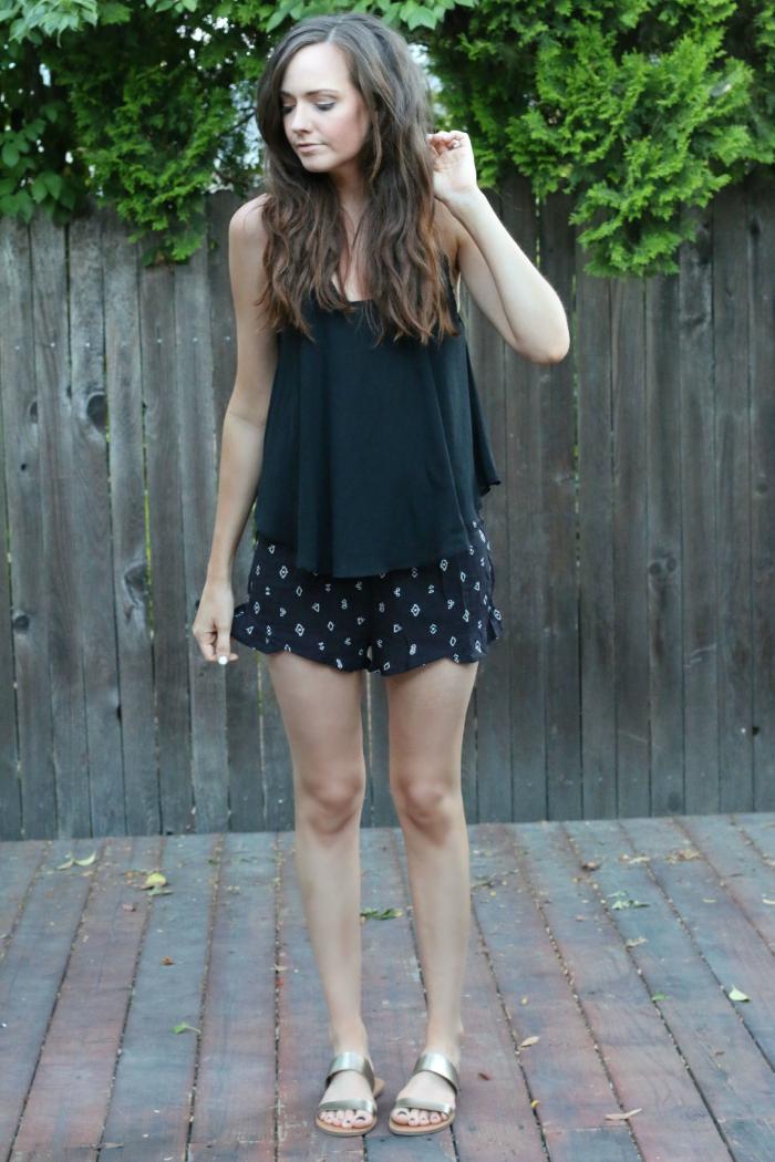 ruffle shorts 1