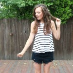 STRIPED TOP AND CUT OFFS