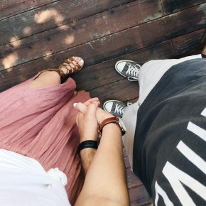 skirt | sandals | her watch | his watch | his shoes