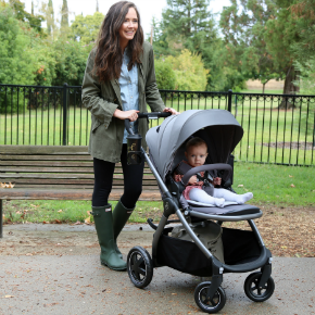 Boots | Jacket | Shirt | Leggings | Stroller