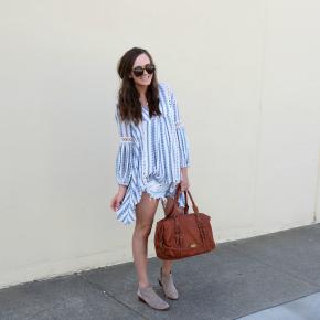 Top | Shorts | Booties | Sunglasses | Original Post