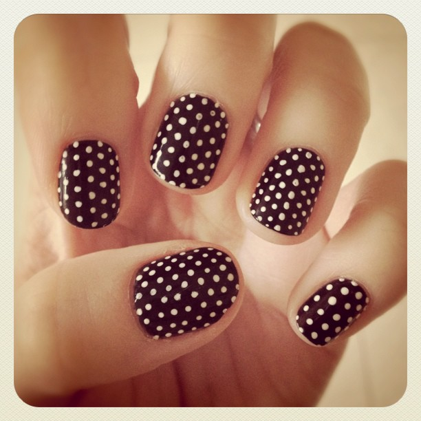 Sally Hansen I Heart My Nail Art Polka Dot Tutorial Katie Did What